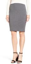 Halogen Ribbed Wool Blend Skirt (Petite)