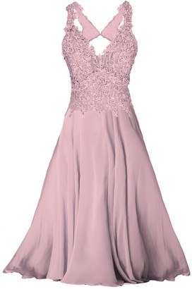 Angelika Jozefczyk Bridesmaid Long Lace Dress Dusty Pink Mini