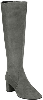 Aerosoles Leather Knee-High Block Heeled Boots- Cannonball