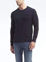 Banana Republic Slub-Knit Pocket Crew Sweater