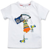 Little Marc Jacobs Essential Mister Marc Jersey Tee, White, Size 3-12 Months
