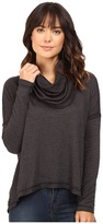 Heather Basket Jacquard Cowl Neck Pullover
