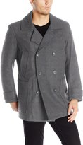 Marc New York Mens Outerwear Mulberry Wool Peacoat with Removable Bib