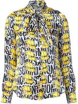 Moschino legged hard hat print shirt - women - Silk - 38