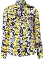 Moschino legged hard hat print shirt