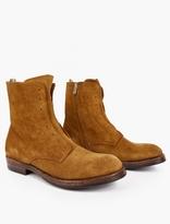Officine Creative Brown Lowry Suede Zip-Up Boots