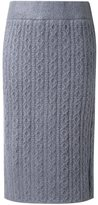 GUILD PRIME cable knit skirt - women - Acrylic - 34
