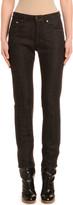 Agnona Tapered Cashmere-Line Skinny Jeans