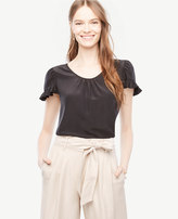 Ann Taylor Ruffle Silk Top