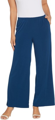 Joan Rivers Classics Collection Joan Rivers Petite Length Pull-On Palazzo Pants w/ Center Seam