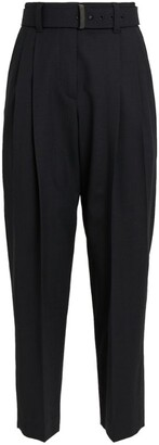 Brunello Cucinelli Wool-Blend Belted Trousers