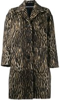 Rochas zebra print coat - women - Polyamide/Alpaca/Virgin Wool - 46