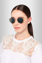 Ray-Ban Round-frame Gold-tone Sunglasses - one size