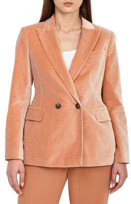 Reiss Aubrie Double Breasted Velvet Jacket