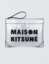 MAISON KITSUNÉ Large Leather Clutch