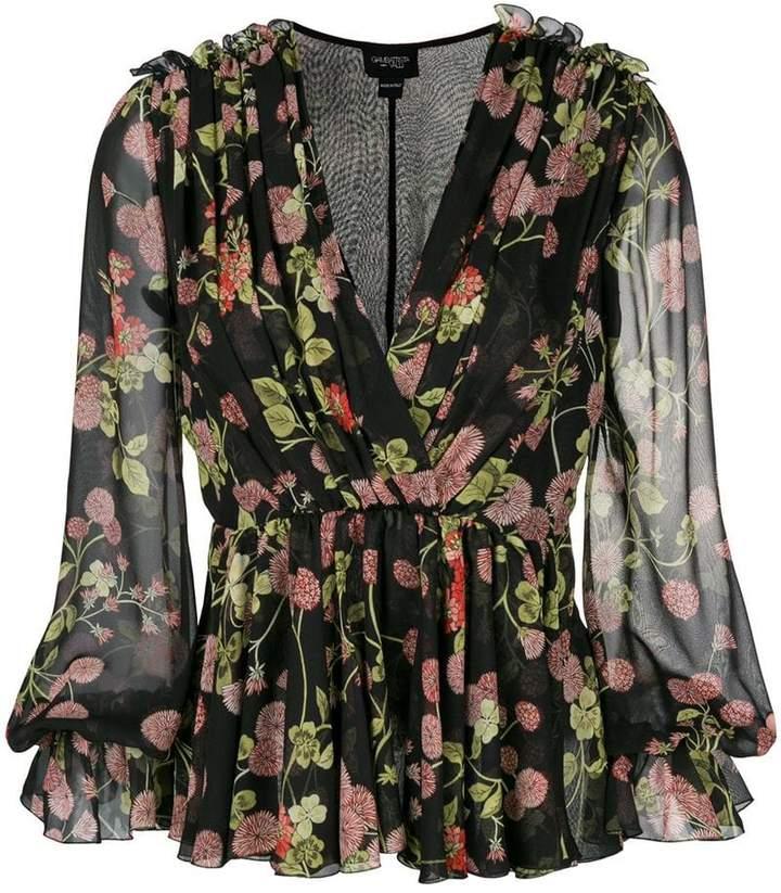 Giambattista Valli floral pleated blouse