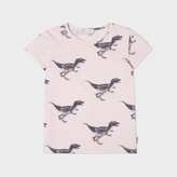 Paul Smith Girls' 7+ Years Pink Dinosaur Print 'Ninon' T-Shirt