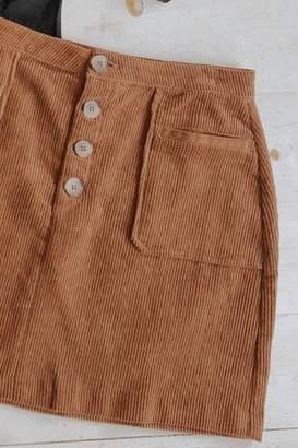Blu Pepper Corduroy Mini Skirt