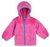 Rugged Bear Reversible Fleece Midweight Jacket in Pink