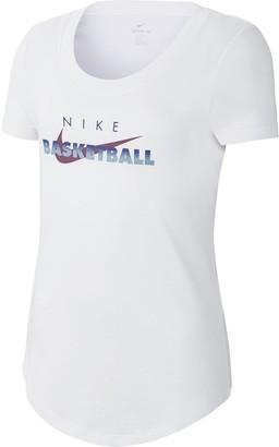 Nike Girls 7-16 Scoopneck Graphic Tee