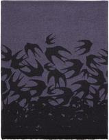McQ Purple Swallow Dégradé Scarf