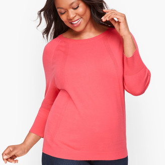 Talbots Pointelle Detail Dolman Sleeve Sweater