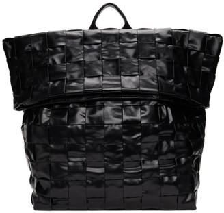 Bottega Veneta Black Intrecciato Medium The Casette Backpack