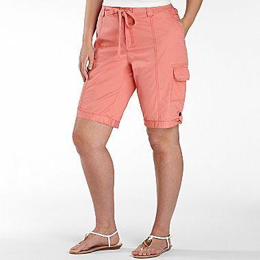 JCPenney St. John's Bay® Cargo Bermuda Shorts - Plus