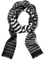 Banana Republic Stripe Long Skinny Scarf