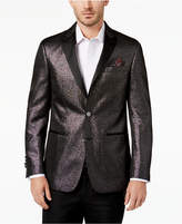 Tallia Men's Big & Tall Slim-Fit Black Sparkle Peak-Lapel Dinner Jacket