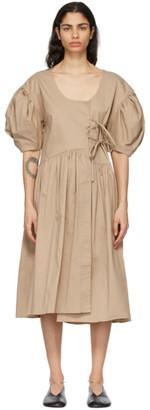 Kika Vargas Beige Carmen Dress