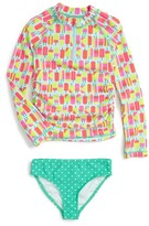Toddler Girl's Tucker + Tate Two-Piece Rashguard Swimsuit