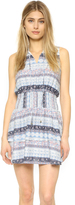 Moon River Smocked Waist Shirtdress