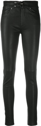 IRO Buckled Leather Trousers