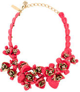 Oscar de la Renta Enamel Flower Necklace