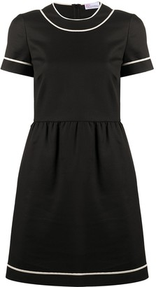 RED Valentino contrast trim tea dress