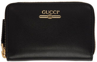 Gucci Black Zip Card Case Wallet