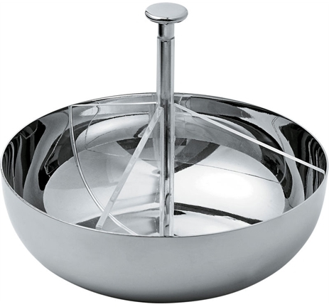 Alessi PCH01 three-section holder for tea bags or sugar sachets