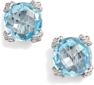 Anzie Cluster Topaz Stud Earrings