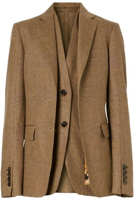 Burberry Tailored Check Waistcoat Blazer