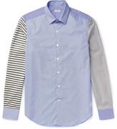 Loewe Patchwork Striped Cotton-Poplin Shirt