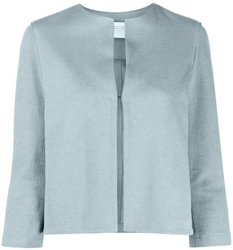 Harris Wharf London Collarless Round-Neck Jacket