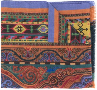 Etro Delhy patterned scarf