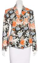 Celine Double-Breasted Floral Print Blazer