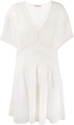 AllSaints lace detail dress