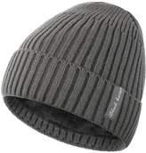 Novawo Winter Fluff Lined Beanie Hat Knit Skull Cap with Neck Warmer for Men Women