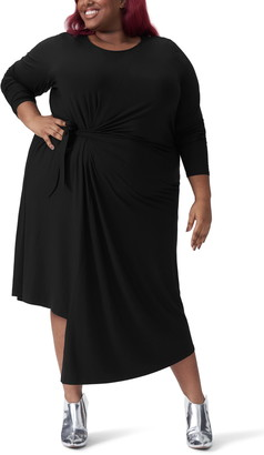 Universal Standard Dina Long Sleeve Side Tie Dress