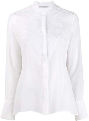 Ermanno Scervino pleated lace shirt ruffle col