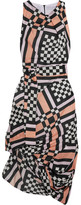 Vivienne Westwood Eight Draped Printed Cotton-voile Midi Dress - Pink