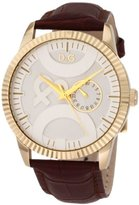 Dolce & Gabbana Women's DW0697 Twin Tip Classic Round Boyfriend Analog Multi-Function Silver and White Dial Watch